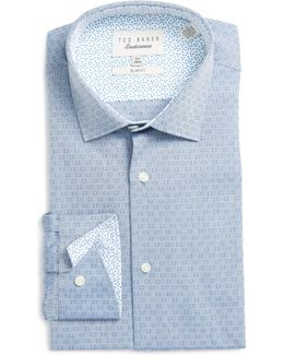 Burrow Slim Fit Geometric Dress Shirt