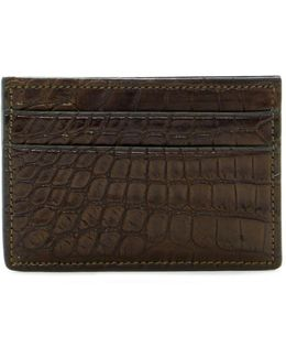 6 Pocket Genuine Alligator Leather Card Case