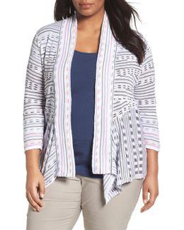 Maze Meadows Stripe Cardigan (plus Size)