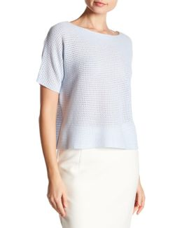 Short Sleeve Cashmere Pullover