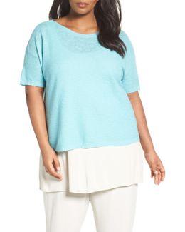 Organic Linen & Cotton Short Sweater