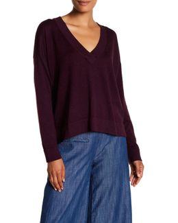 V-neck Boxy Pullover