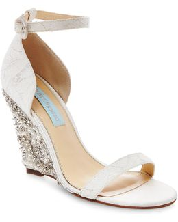Alisa Embellished Wedge Sandal
