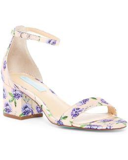 Jayce Glitter Block Heel Sandal