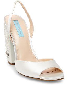 Vivi Embellished Block Heel Sandal