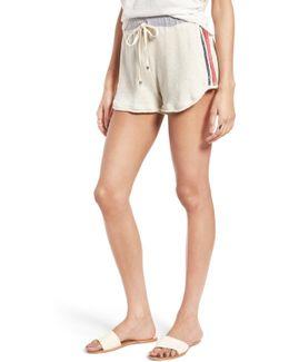 High Waist Vintage Stripe Cotton Shorts