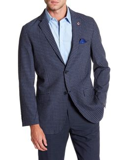 Fulwil Blue Checked Two Button Notch Lapel Sport Coat
