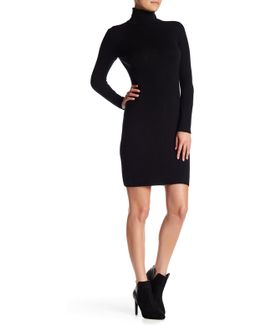 Cashmere Long Sleeve Crewneck Dress