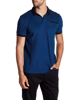 Short Sleeve Oxford Pique Polo