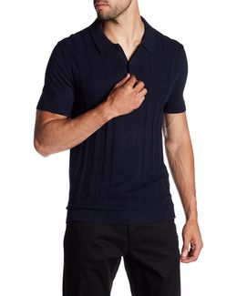 Short Sleeve Knit Polo