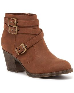 Seon Faux Leather Buckle Boot