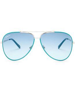 Unisex Metal Aviator Sunglasses