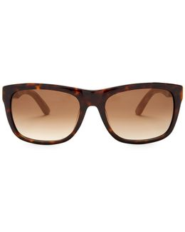 Women's Retro Acetate Frame Sunglasses