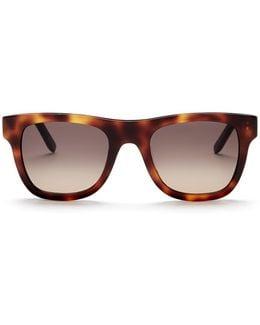 Unisex Straight Brow Plastic Frame Sunglasses