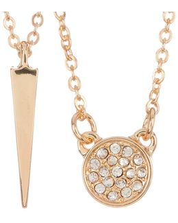 Cade Cz Pave & Katrina Spike Necklace Set