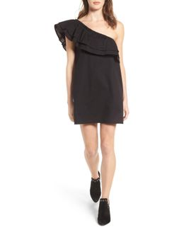 Everly One-shoulder Cotton Dress