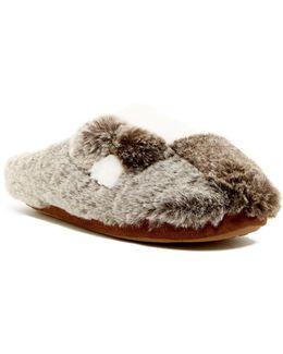 Faux Fur Patchwork Slipper