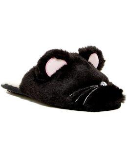 Faux Fur Critter Scruff Slipper
