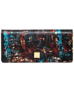 Sasha Leather Checkbook Wallet