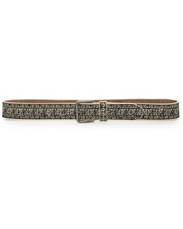 Embossed Cow Leather Belt