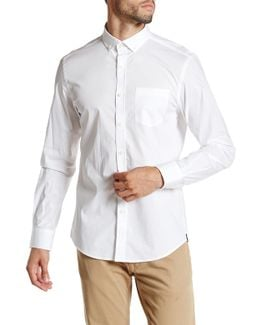 Solid Button Modern Fit Shirt