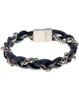 Braided Leather & chain Bracelet