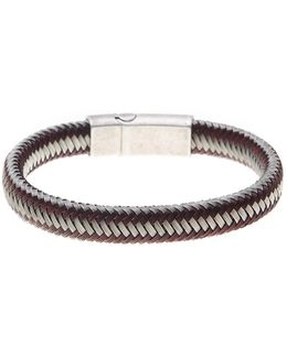Two-tone Woven Cord Bracelet
