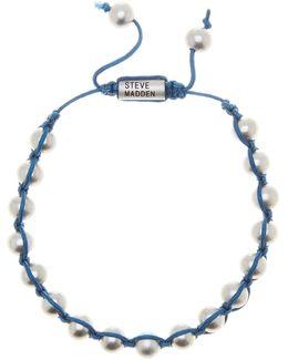 Cord Wrapped Bead Adjustable Bracelet