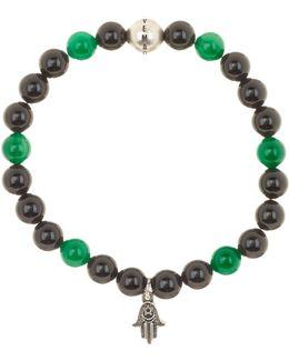 Beaded Stretch Hamsa Charm Bracelet