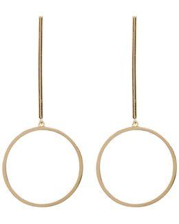 Bar & Circle Drop Earrings