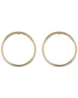Circle Post Earrings