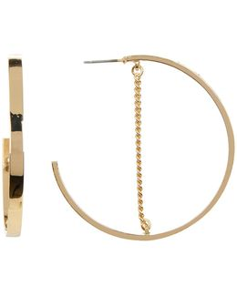 Chain Detail Hoop Earrings