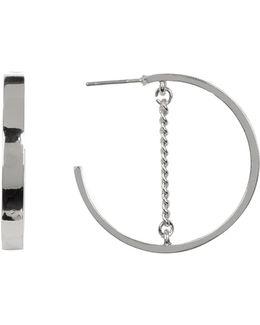 Small Chain Detail Hoop Earrings