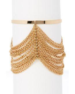 Chain Detail Open Cuff