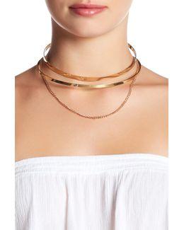 Cutout Collar Chain Drop Choker