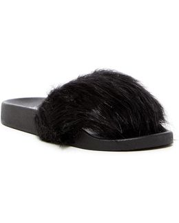 Sophie Faux Fur Slide Sandal