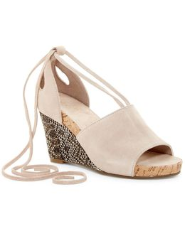 Spring Plush Wedge Sandal