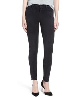 'icon' Faux Suede Ankle Skinny Pants