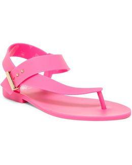 Stated Ankle Strap Thong Sandal
