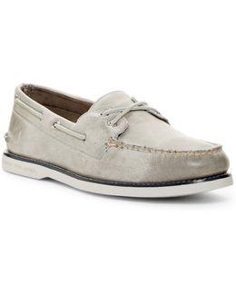 Cross Lace Boat Shoe