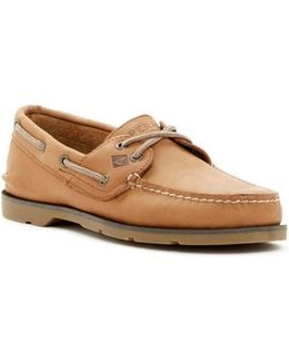 Leeward Cross-lace Boat Shoe - Wide Width Available