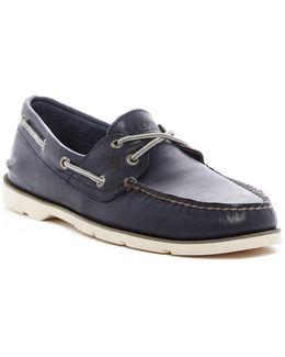 Leeward Moc Toe Boat Shoe