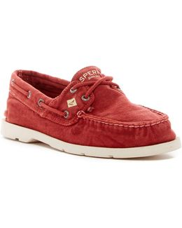 Leeward Washed Canvas Boat Shoe