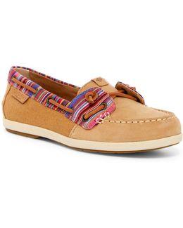 Coil Ivy Tan Stripe Boat Shoe