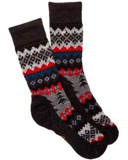 Peppermint Delight Charcoal Heather Socks
