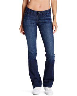 Sarah Mid Rise Slim Bootcut Jean