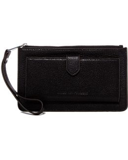 Kansas Top Zip Leather Credit Card Foldout Wallet