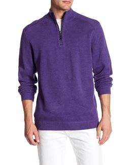 Flip Side Reversible Quarter Zip Twill Pullover