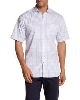 Plaid Short Sleeve Regular Fit Shirt