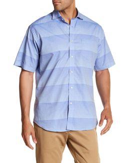Gradient Stripe Short Sleeve Regular Fit Shirt